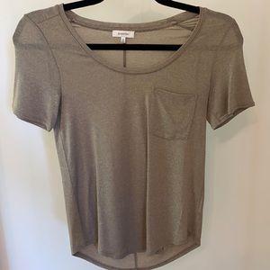 Aritzia Babaton taupe short sleeve T-shirt